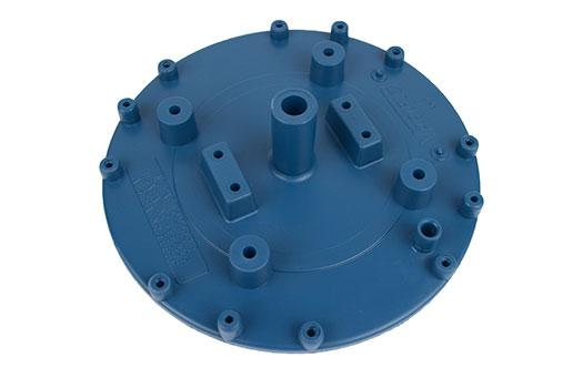 Base plate with hose mount nipple