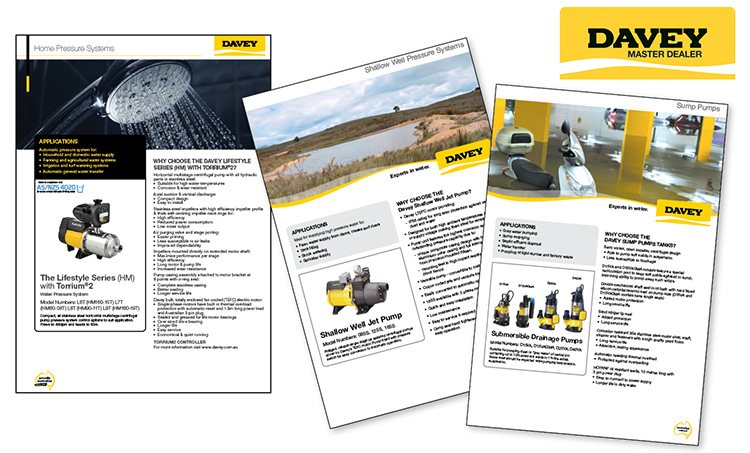 davey pumps brochures