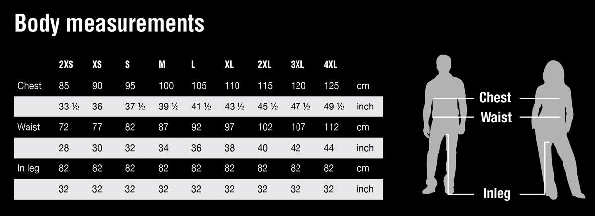 Line 7 body measurements